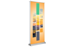 Deluxe Retractable - Double Sided 33x81