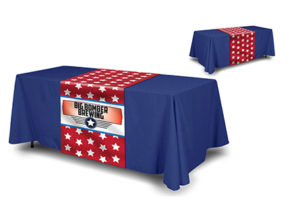 Table Runner Solid Color Throw Combo